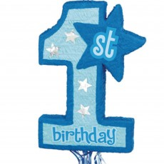 Blue Boy's 1st Birthday Pinatas 55.25cm x 45.72cm x 7.62cm