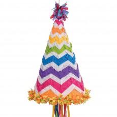 Chevron Design Birthday Hat Pinata 55.25cm x 45.72cm x 7.62cm