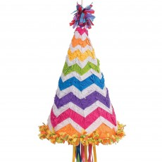 Chevron Design Birthday Hat Pinata
