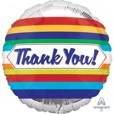 Thank You Party Decorations - Foil Balloon Standard HX Stripes