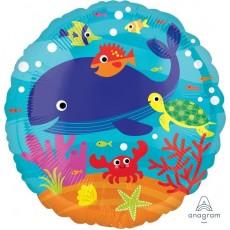 Hawaiian Luau Under the Sea Animals Standard HX Foil Balloon