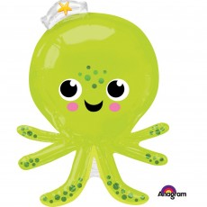 Hawaiian Luau SuperShape XL Silly Octopus Shaped Balloon