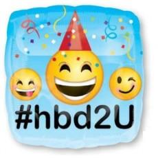 Emoji Standard HX Emoticons Shaped Balloon