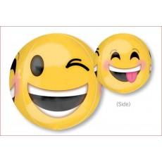 Orbz XL Emoji Winking Emoticons Shaped Balloon 38cm x 40cm