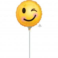Emoji Winking Emoticons Foil Balloon
