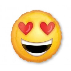 Emoji Standard HX Love Heart Eyes Emoticons Foil Balloon