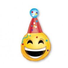 Emoji Junior Shape XL Birthday Emoticons Shaped Balloon