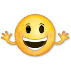 Emoji Smiling with Arms Foil Balloon