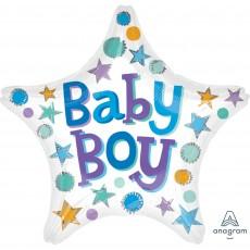 Star Baby Shower - General Standard XL Baby Boy Shaped Balloon 45cm