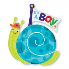 Baby Shower - General SuperShape XL Snail Shaped Balloon