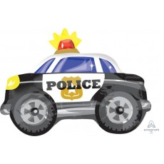 Police Party Decorations - Shaped Balloon Junior Shape XL Police Car