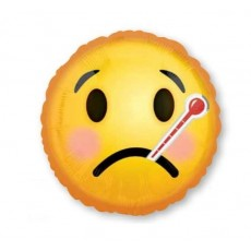Get Well Standard HX Emoticons Foil Balloon