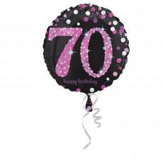70th Birthday Pink Celebration Foil Balloon