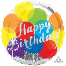 Happy Birthday Balloons Standard HX Foil Balloon