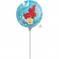 Round The Little Mermaid Ariel Dream Big Foil Balloon 22cm