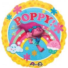 Round Trolls Standard HX Poppy! Foil Balloon 45cm