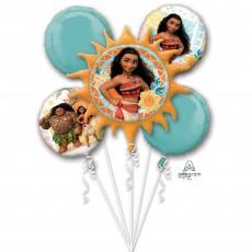 Moana Party Decorations - Foil Balloons Bouquet