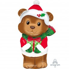 Christmas Junior  Bear Shaped Balloon