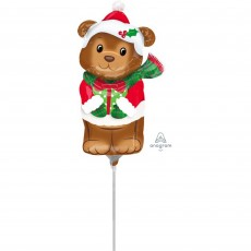 Christmas Mini  Bear Shaped Balloon