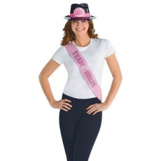 Hens Night Pink Team Bride Sashes Costume Accessories