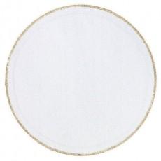 Gold White & Tulle Circles Confetti