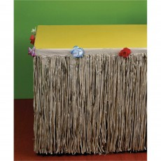 Hawaiian Party Decorations Flowers & Natural Look Grass Table Skirts