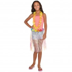 Hawaiian Luau Iridescent Plastic Skirt Child Costume