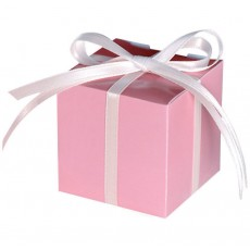 New Pink Paper Favour Boxes 5.7cm x 5.7cm Pack of 100