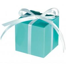Robin's Egg Blue Paper Favour Boxes 5.7cm x 5.7cm Pack of 100