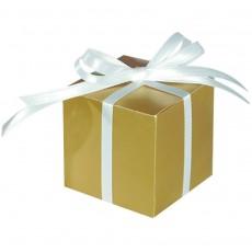 Gold Paper Favour Boxes 5.7cm x 5.7cm Pack of 100