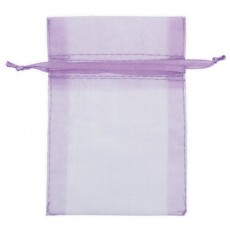 Lilac Organza Favour Bags