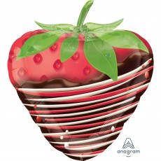 Red Junior Shape XL Chocolate Dipped Strawberry Shaped Balloon