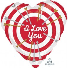 Love Standard HX Bullseye Shaped Balloon