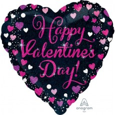 Valentine's Day Standard Holographic Sparkling Shaped Balloon