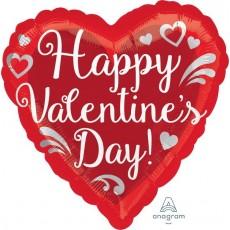 Valentine's Day Standard HX Fancy Swirls Shaped Balloon