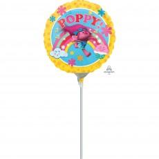 Round Trolls Poppy! Foil Balloon 22cm