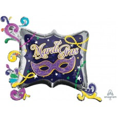 Mardi Gras SuperShape Frame Shaped Balloon