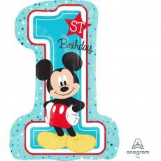 Mickey Mouse 1st Birthday SuperShape XL Foil Balloon 48cm x 71cm