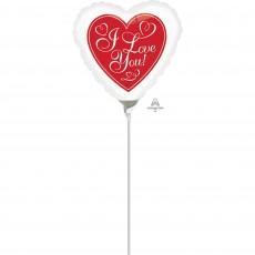 Love Heart & Border Foil Balloon
