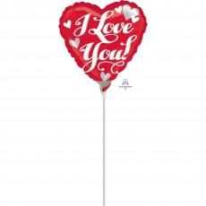 Love White Script Foil Balloon