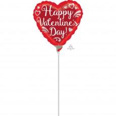 Valentine's Day Fancy Swirls Shaped Balloon