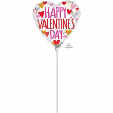 Valentine's Day Touch of Gold Foil Balloon