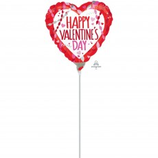 Valentine's Day Streamers & Confetti Shaped Balloon
