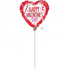 Valentine's Day Streamers Shaped Balloon