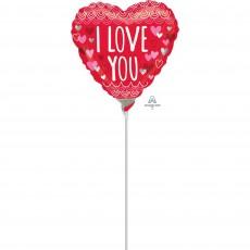 Love Sketchy Scallops Foil Balloon