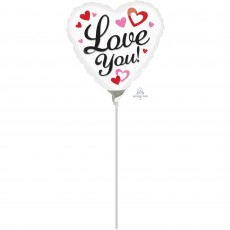 Love with Red & Pink Hearts Shaped Balloon