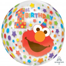 Elmo Turns One Sesame Street 1st Birthday Shaped Balloon