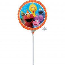 Round Sesame Street Fun Foil Balloon 22cm