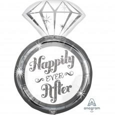 Wedding SuperShape Diamond Ring Shaped Balloon