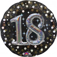 18th Birthday Sparkling Celebration Multi-Balloon Holographic Foil Balloon